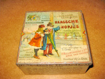 7612- Cutie veche bomboane metal Haagsche Hopjes anii 1900.