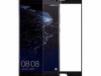 Folie Sticla Huawei P10 Black Fullcover Tempered Glass Ecran