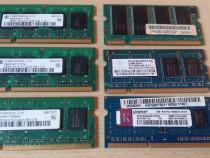 Memorie ram laptop, lot 6 buc DDR2 si DDR3 1Gb