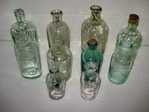 7690-10 sticle mici Farmacie-Alcool vechi stare buna.