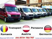Zilnic transport persoane Resita Romania Austria Germania