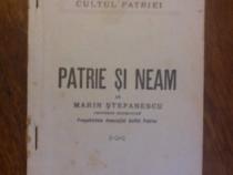 Patrie si neam - Marin Stefanescu (Cultul Patriei) / R8P1S