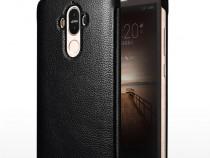 Husa slim piele, smart cover, Xoomz, Huawei Mate 9, negru