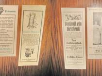 3 Reclame vechi de carti anii 1920 carton calitate.