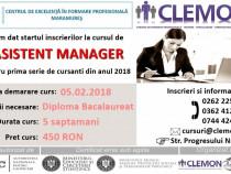 Curs de Asistent Manager