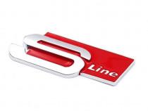 Emblema Audi S-Line Crom Rosu