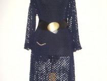 Rochie oversize, noua, crosetata manual, bleumarin