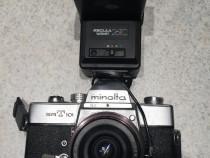 Set aparat Foto Minolta SRT 101 + Blitz Regula Variant 26 TC