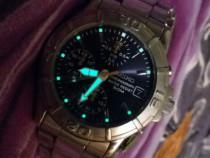 Ceas seiko cronograph, date 50 m wr, original japonez