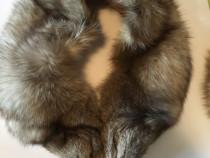 Căciula și guler de vulpe polară