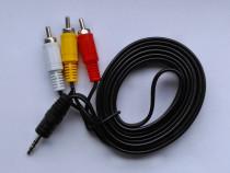 Cablu audio video AV / Jack de 3,5 mm la 3 RCA, 1.5m