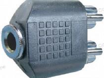 Adaptor jack mama 3,5 mm stereo - 2 x RCA tata - 126716