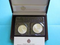 Set monede comemorative argint - san marino, 1989 - fdc