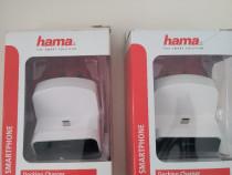 Statie,dubla incarcare hama,mufa mini usb/usb,fast charge2.1