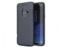 Husa Silicon Samsung Galaxy A8+ 2018 a730 Blue Litchi NOU