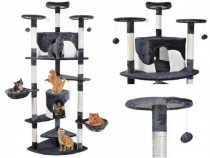 Ansamblu de joaca pentru pisici Gri/Alb 200cm