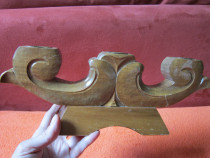 Cadou inedit -sculptura lemn esenta tare -sfeșnic vintage