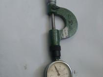 Micrometru  cu ceas comparator de la 0 la 25mm.de precizie