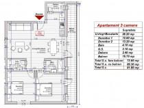 Dezvoltator apartament 3 camere 2 bai conf lux alb Turnisor
