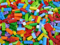 Piese constructie, gen Lego Duplo, 1018 bucati multicolore