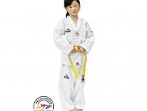Kimono unisex karate original, Federația Int. Taekwando, 140