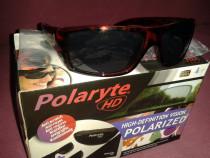 Ochelari de soare HD, Polarizati, Unisex, maro