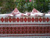Faţă de masă Nouă Artizanat popular românesc Jacquard. Etno!