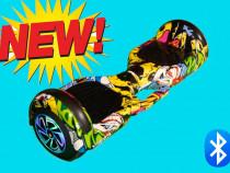 Hoverboard bluesky overskaybord 1000w bluetooth-led-uri husa