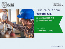 Curs specializare operator GPL, județul Bacău