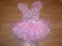 Costum carnaval serbare rochie dans balet 5-6 ani