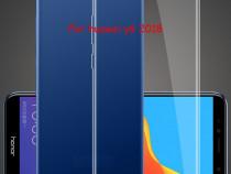 Huawei Y5 Y6 Y7 2018 - Pachet Husa Silicon Clara si Folie St