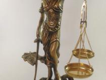 Statuie Zeita Justitiei din bronz! (h 26 cm)