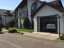 Casa mobilata, curte 430mp amenajata garaj beton Corbeanca