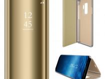 Samsung S9 S9 Plus - Flip Case Clear View Oglinda Negru, Aur