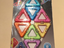 Joc de constructie magnetic PLAY SMART 8 piese