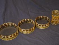 Set ornamente lucrat manual, decor, colectie, vintage
