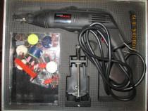 Polizor mecanica fina cu prelungitor flexibil, 122 piese