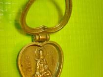 10041-Medalion pandativ inimioara zeita Japonia bronz.