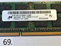 Memorie ram Micron ddr3L 4GB 2Rx8 PC3L-12800S-11-11-FP SODIM