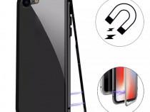 Husa Magnetica Rama Neagra Spate Sticla iPhone X XS XR XS MA