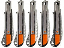 5 bucati - Cutter metalic pentru taiat, gri-portocaliu