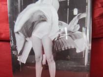 "Reclama metalica mare 'Marilyn M. in alb"",1954-cadou inedit"
