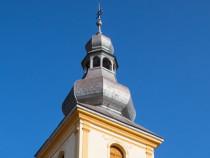 Coborari paratraznet si vopsim acoperisuri-turle de biserica