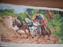 Goblen Caleasca cu cai