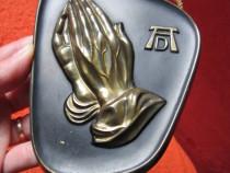 """Maini de rugaciune"" decoratiune vintage bronz -cadou inedit"