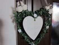 Inima cu porumbei -mesaj de nunta, logodna ,etc-un cadou ine