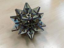 Obiect decorativ Dodecaedru stelat 15 cm