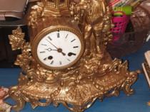 Ceas de semineu din bronz vintage