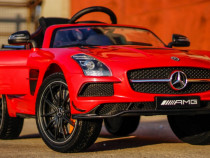 Masinuta electrica Mercedes SLS Deluxe AMG 12V cu LED #RED