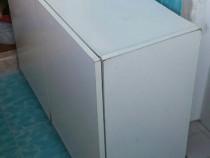 Dulap din lemn pal, alb, 90x30x59 cm, 2 usi, 2 compartimente
